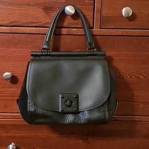 Coach Turnlock Black Leather Handbag NWOT
